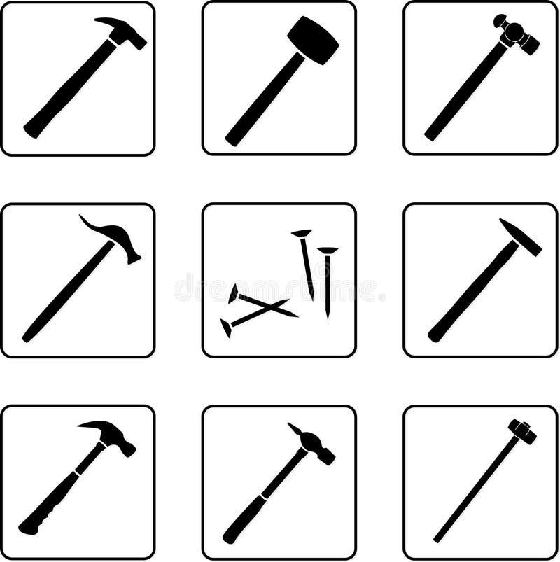 Vector Illustration Hammer: Hammers 1 Stock Vector. Illustration Of Black, Handicraft