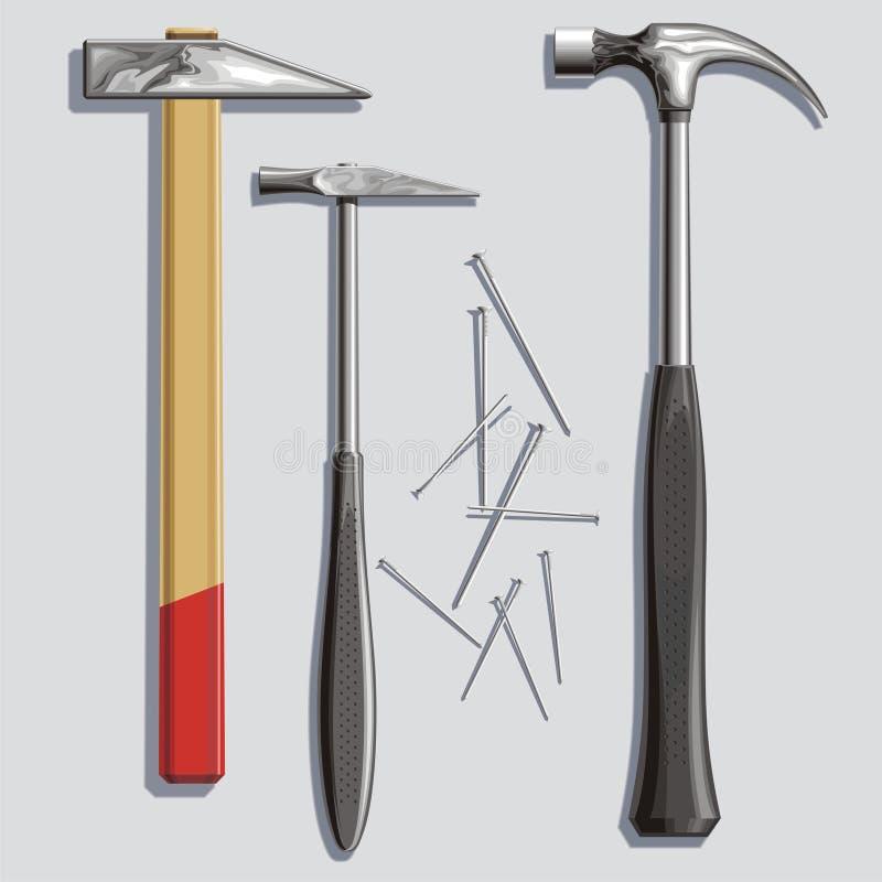 Download Hammers stock vector. Illustration of metalwork, joiner - 9506490