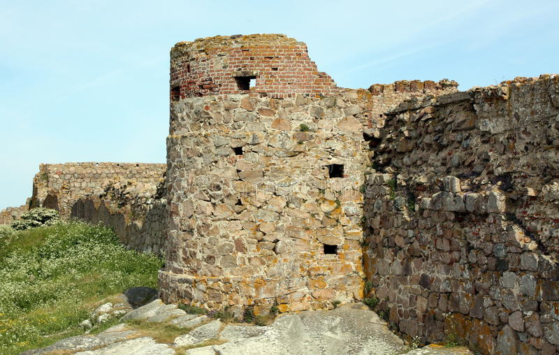 Hammershus ruïnes stock photo