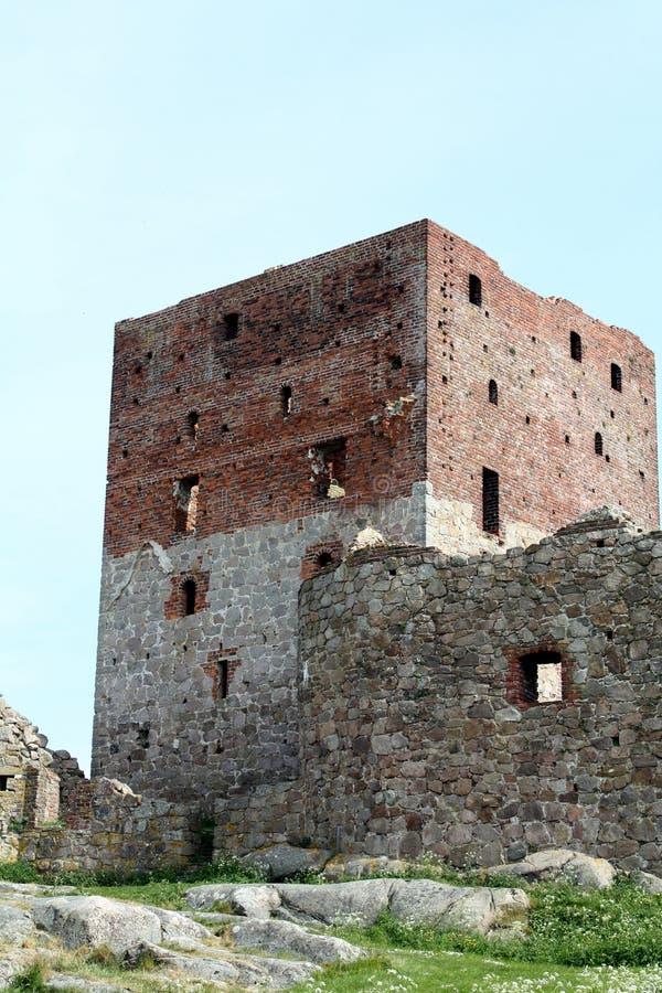 Hammershus ruins royalty free stock photography