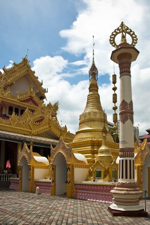 Hammikarama Burmese Temple, Penang stock photos