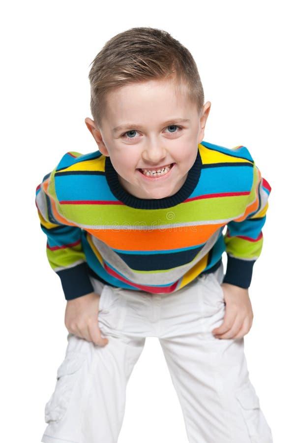 Hamming chłopiec zdjęcie stock