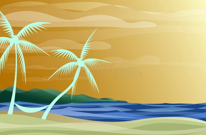 Download Hammock on the Beach stock vector. Illustration of sand - 2276973