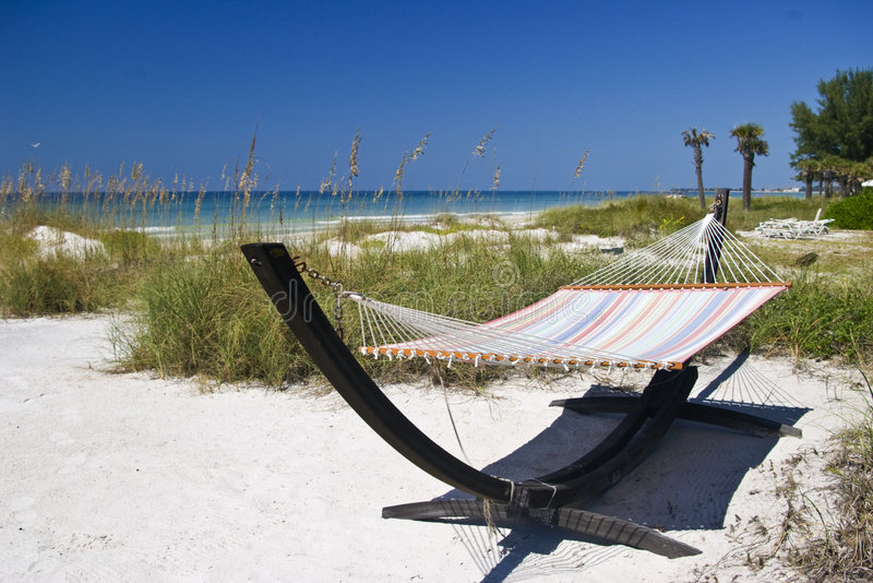 Hammock on the Beach stock images