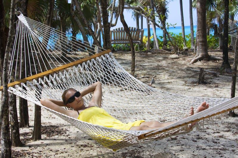 Hammock caraibico di vacanza fotografie stock