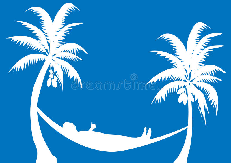 Hammock With Coconuts Stock Photo