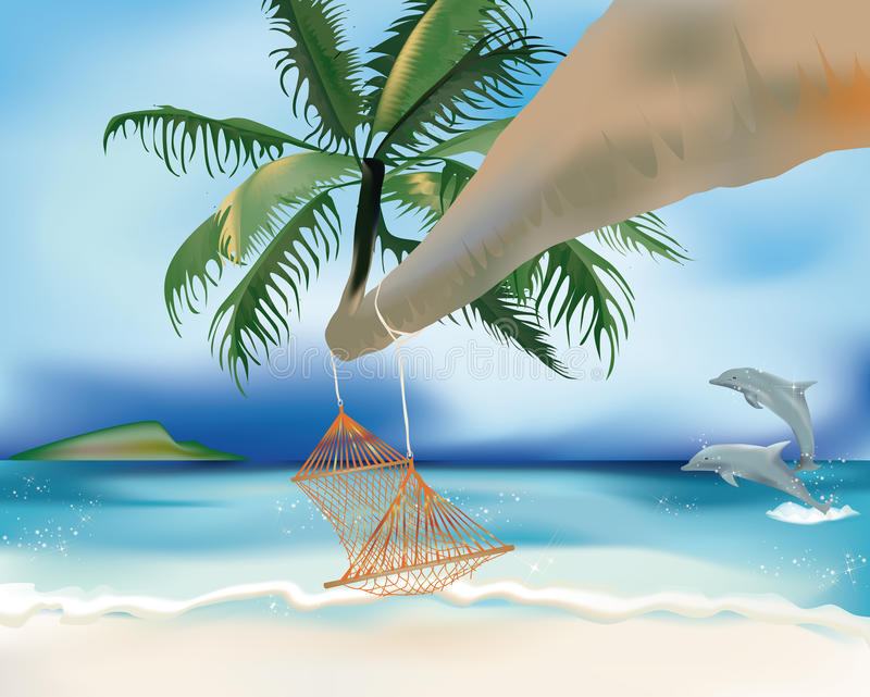 Download Hammock And Dolphins Royalty Free Stock Images - Image: 25536989