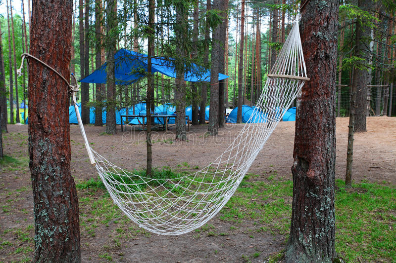 Download Hammock stock image. Image of wood, tourist, meadow, landscape - 33400319