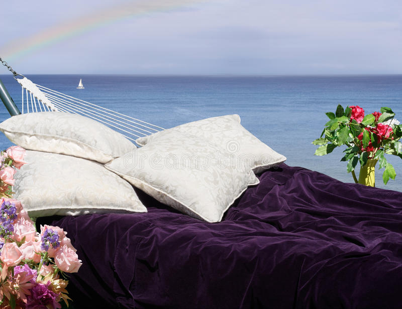 Hammock With Ocean View Stock Photography