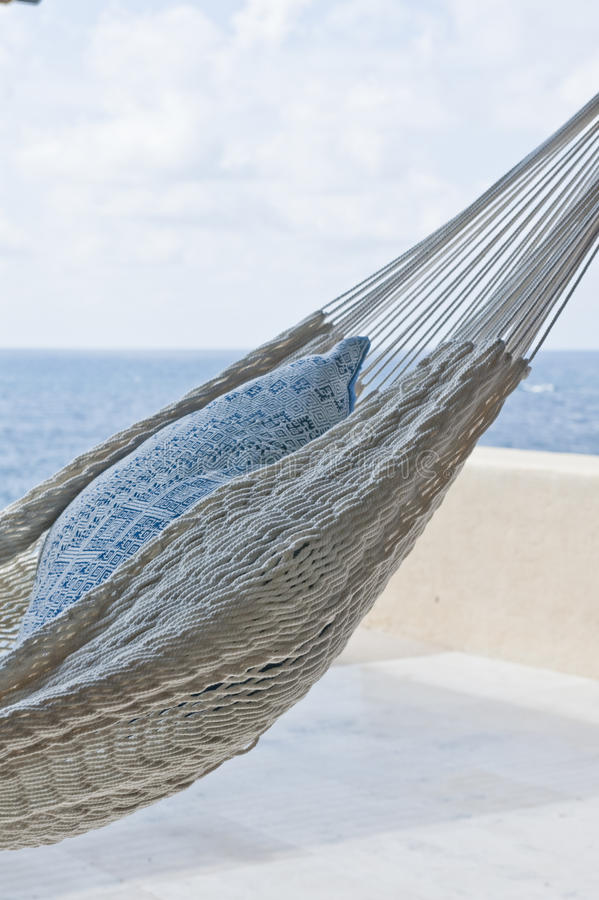 Hammock With Pillow In The Shade Royalty Free Stock Photos
