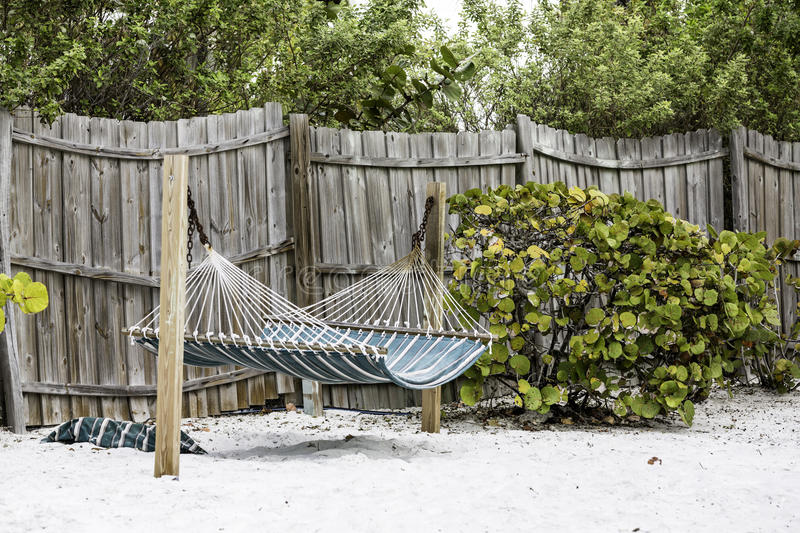 Hammock in the shadow royalty free stock image
