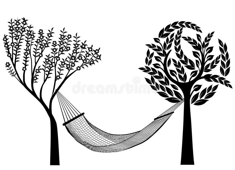 Download Hammock to relax stock illustration. Image of deckchair - 14024741