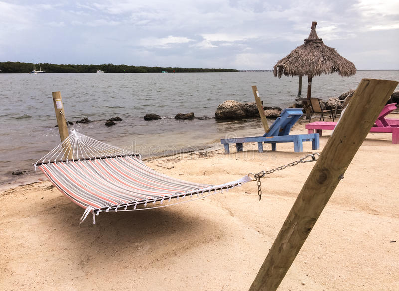 Hammock by the water in Florida Keys royalty free stock image