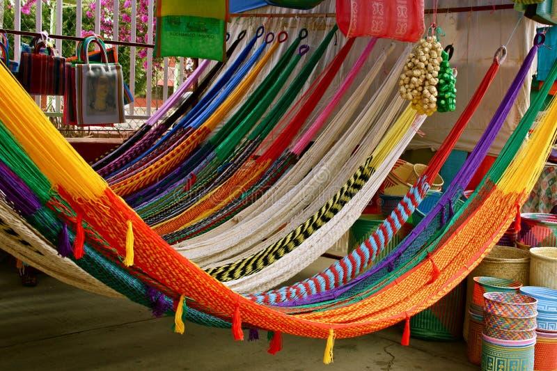 Hammocks coloridos fotografia de stock