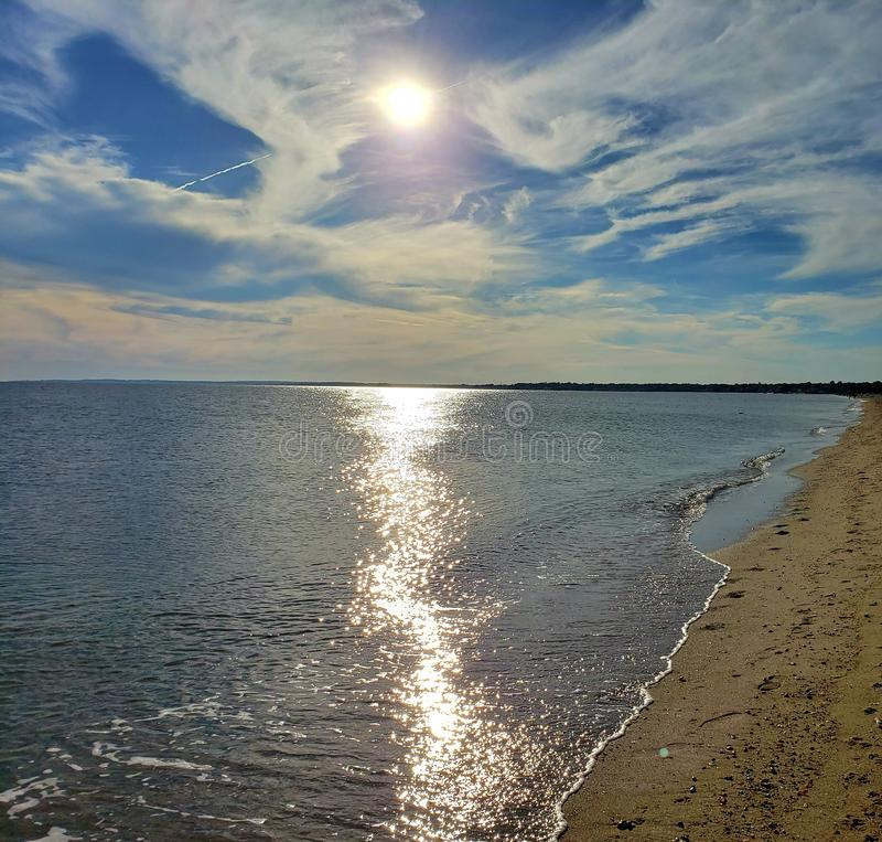 Hammonasset strand Connecticut USA arkivbilder