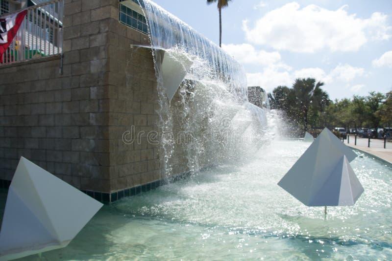 Hammond体育场喷泉 库存照片