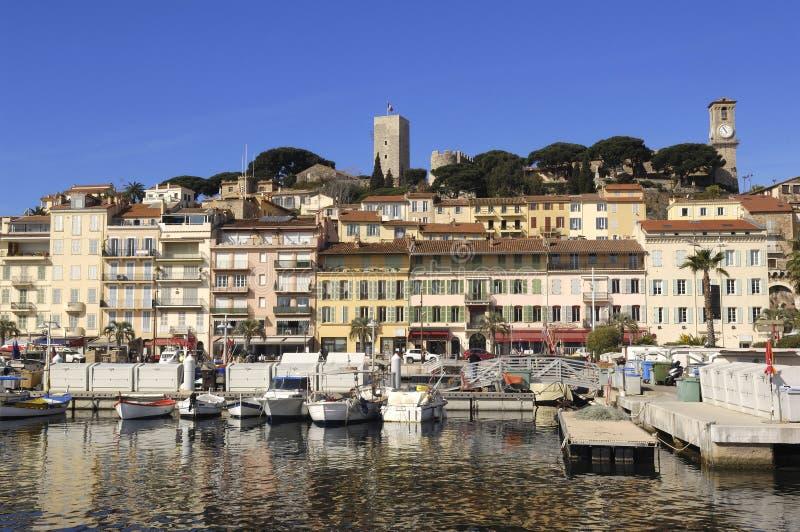 Hamn av Cannes, franska Riviera, royaltyfri foto