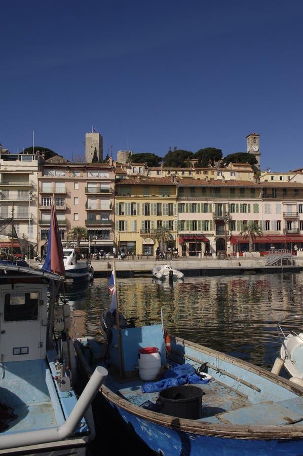 Hamn av Cannes, franska Riviera, Frankrike fotografering för bildbyråer
