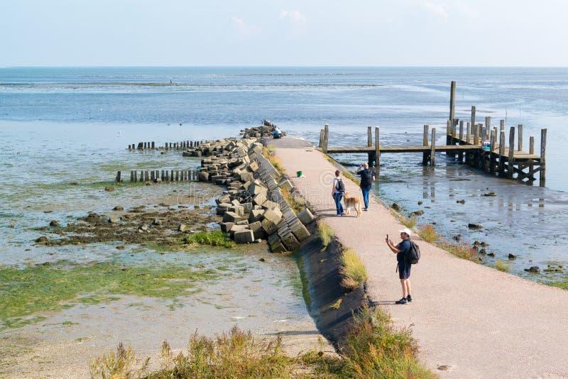 Hamn av De Cocksdorp på ön Texel, Nederländerna arkivfoton