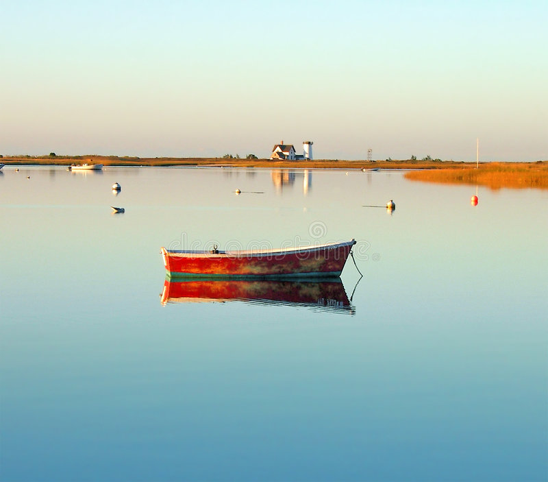 hamn för uddchathamtorsk över soluppgång royaltyfri fotografi
