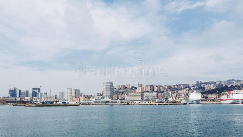 Hamn Genoa Italy royaltyfri foto