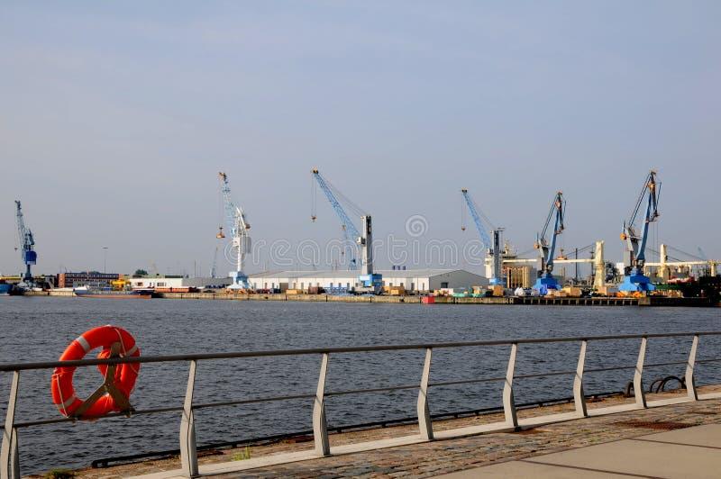 Hamn Hamburg royaltyfria foton