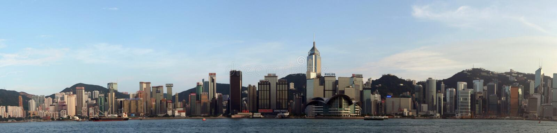 hamn Hong Kong victoria royaltyfria foton
