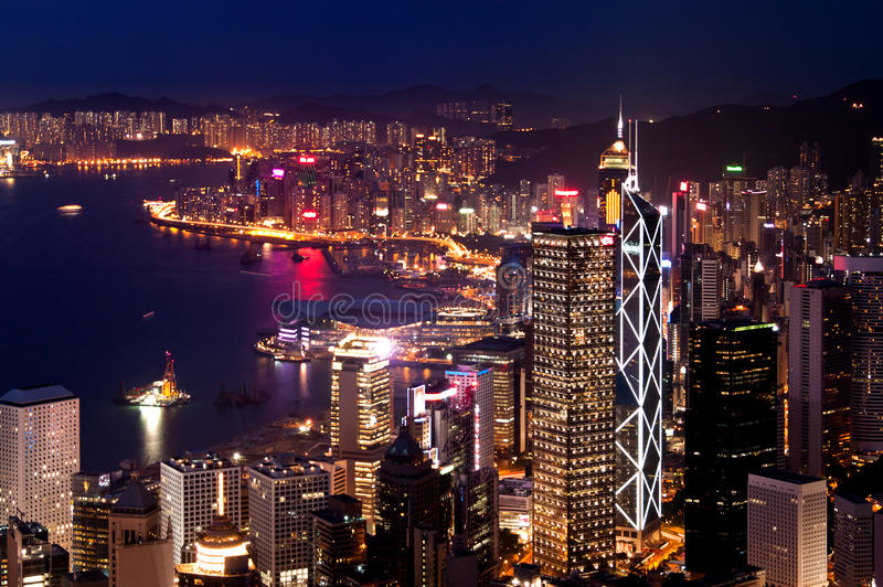 hamn Hong Kong victoria arkivbilder