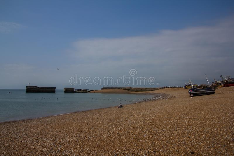 Hamn i Hastings, UK royaltyfri foto