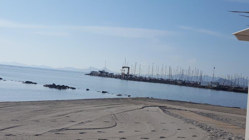 Hamn i Los Alcazares Murcia, Spanien arkivfoto