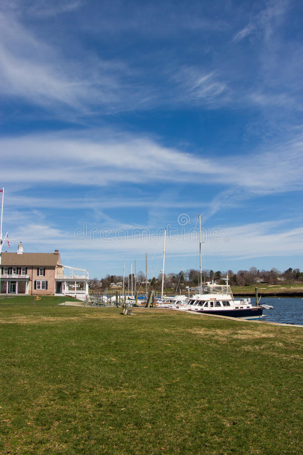Hamn i Southport, Connecticut arkivbilder