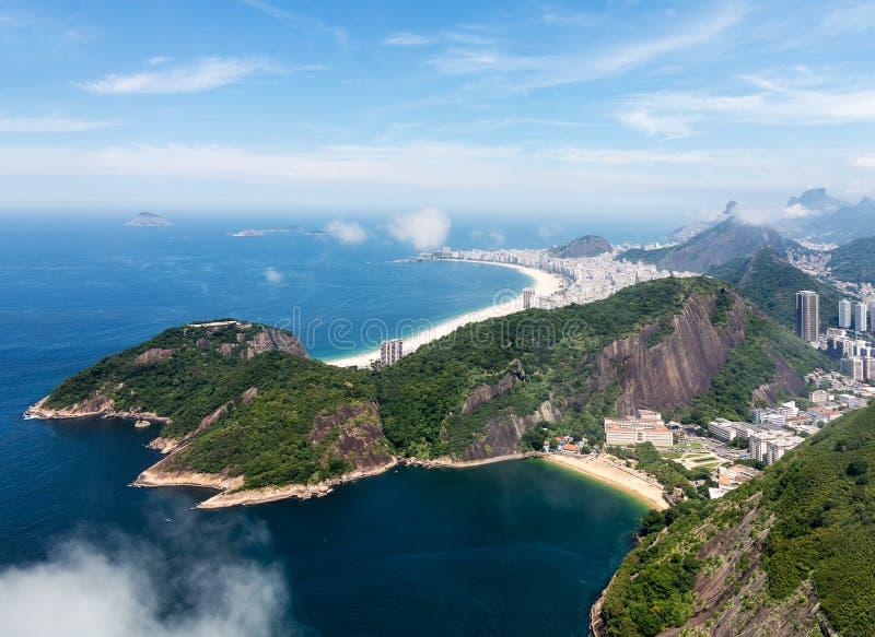 Hamn och horisont av Rio de Janeiro Brazil royaltyfri bild