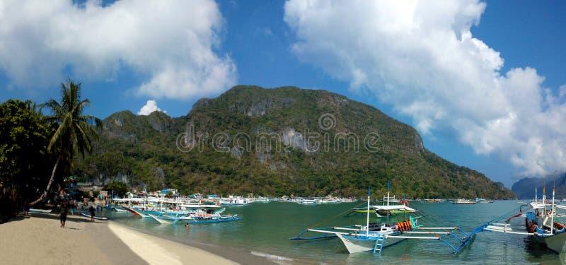 Hamn Palawan för El Nido royaltyfri bild