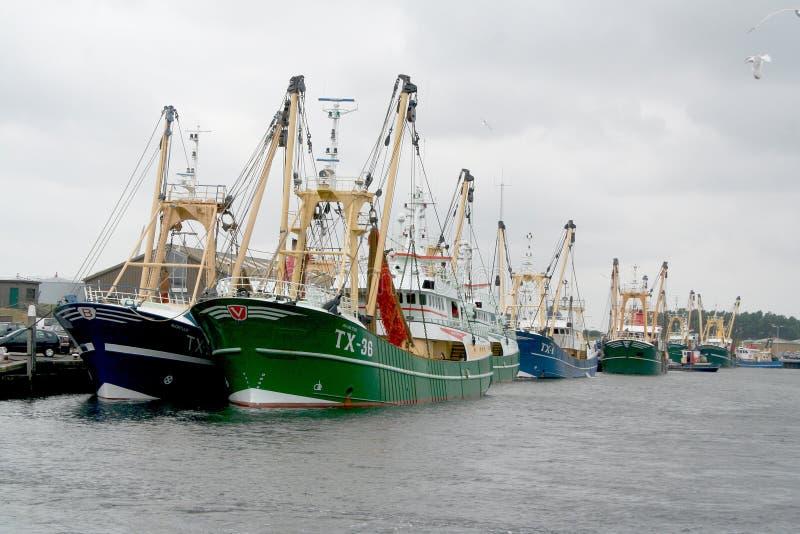 Hamnen av Texel i Oudenschild fotografering för bildbyråer