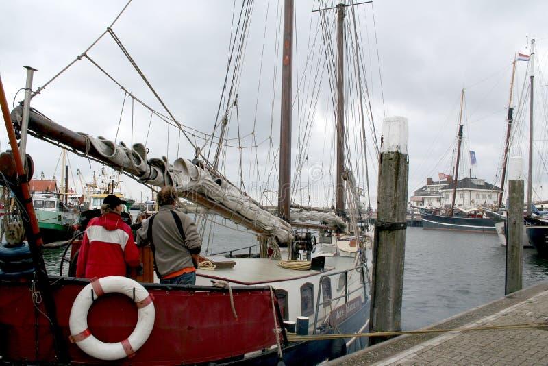 Hamnen av Texel i Oudenschild royaltyfria foton