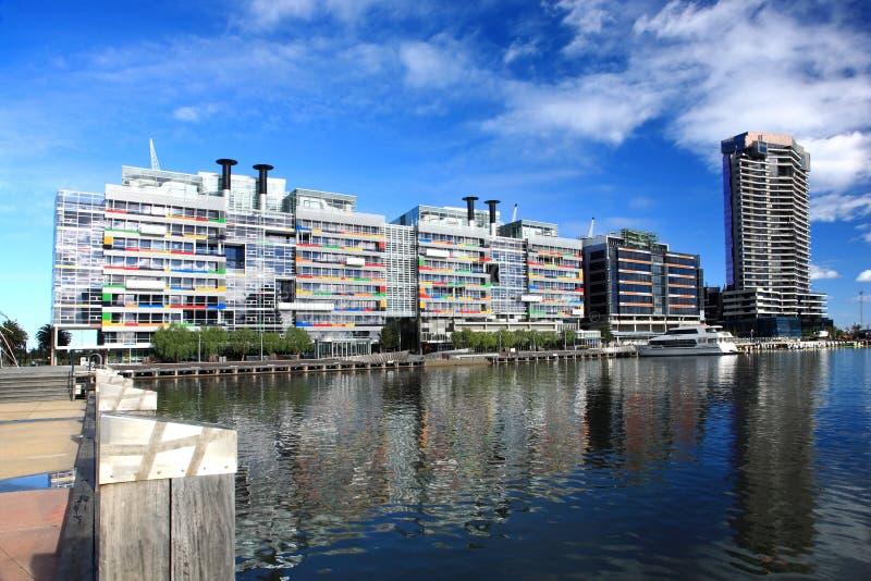 hamnkvarter melbourne royaltyfri fotografi