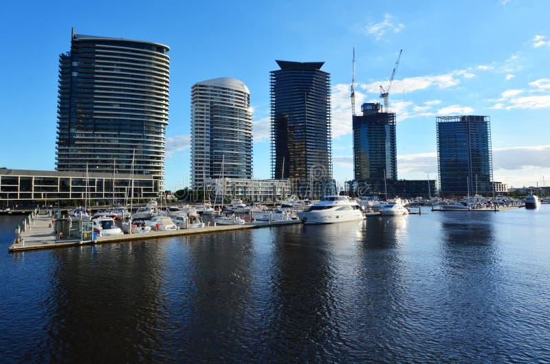 Hamnkvarter Melbourne Victoria arkivbilder