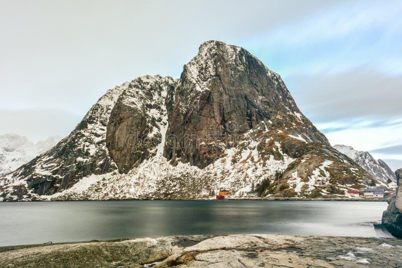 Hamnoy - Lofoten-Eiland, Noorwegen stock afbeelding