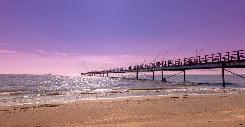Hamnplatsen av fiskare royaltyfri bild