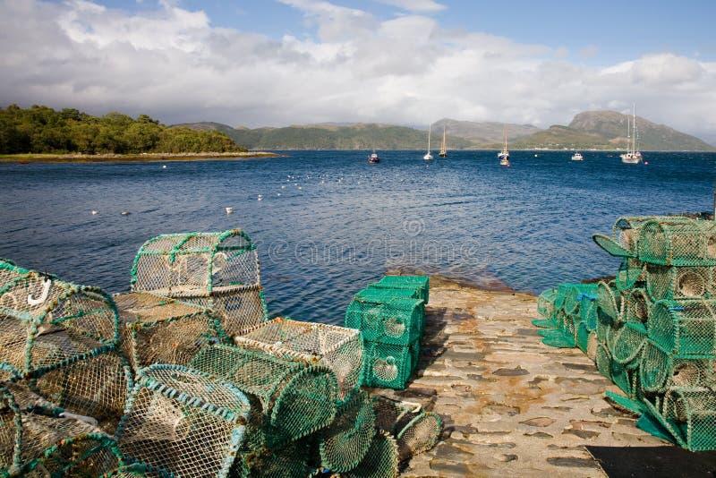 hamnplockton scotland royaltyfri foto