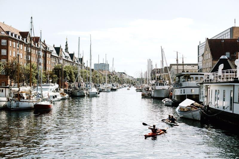 Hamnsikter i Köpenhamnen, Danmark arkivfoton