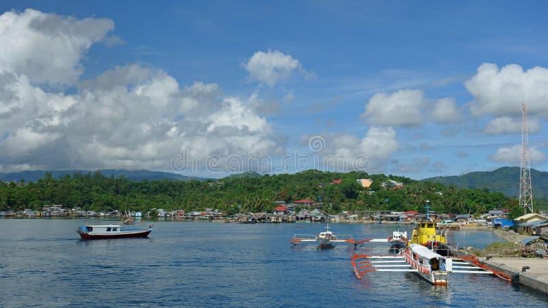 Hamnstad av Surigao royaltyfri bild