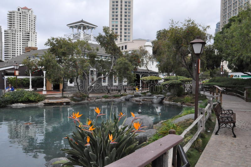 Hamnstadby i San Diego, Kalifornien royaltyfria foton