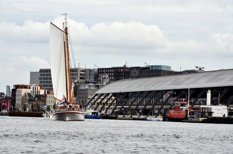 Hamnstaden av Amsterdam fotografering för bildbyråer