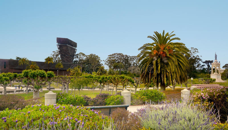 Hamon Watching Tower de Young Museum in Golden Gate Park lizenzfreies stockfoto