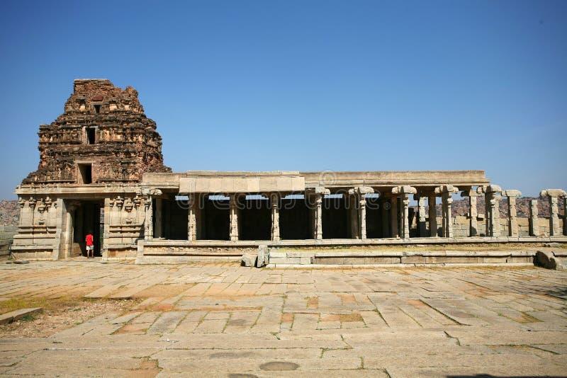 hampi印度废墟 免版税库存图片