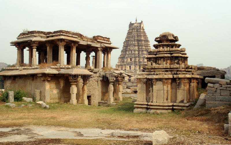 Download Hampi ancient temples stock image. Image of building - 25853801