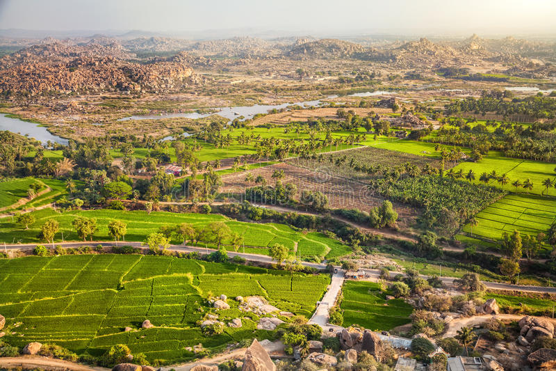 Hampi dolina w India zdjęcia stock