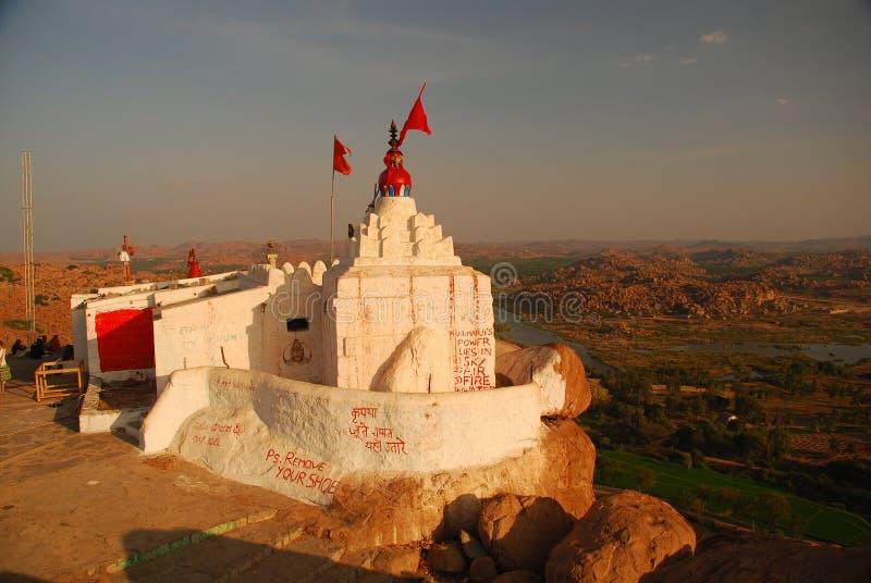 hampi hanuman印度karnataka寺庙 库存图片