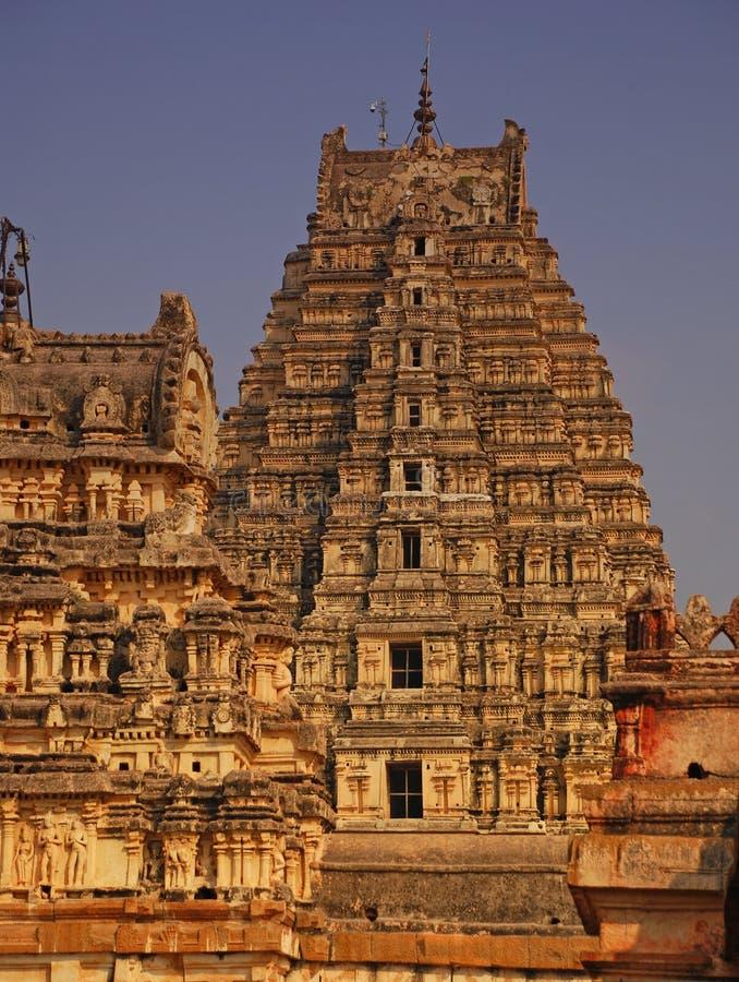 hampi ind karnataka świątyni virupaksha obrazy stock